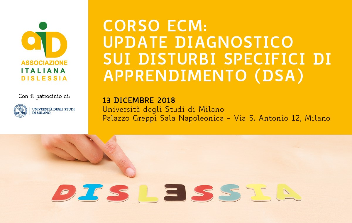 Update diagnostico sui Disturbi Specifici di Apprendimento (DSA)