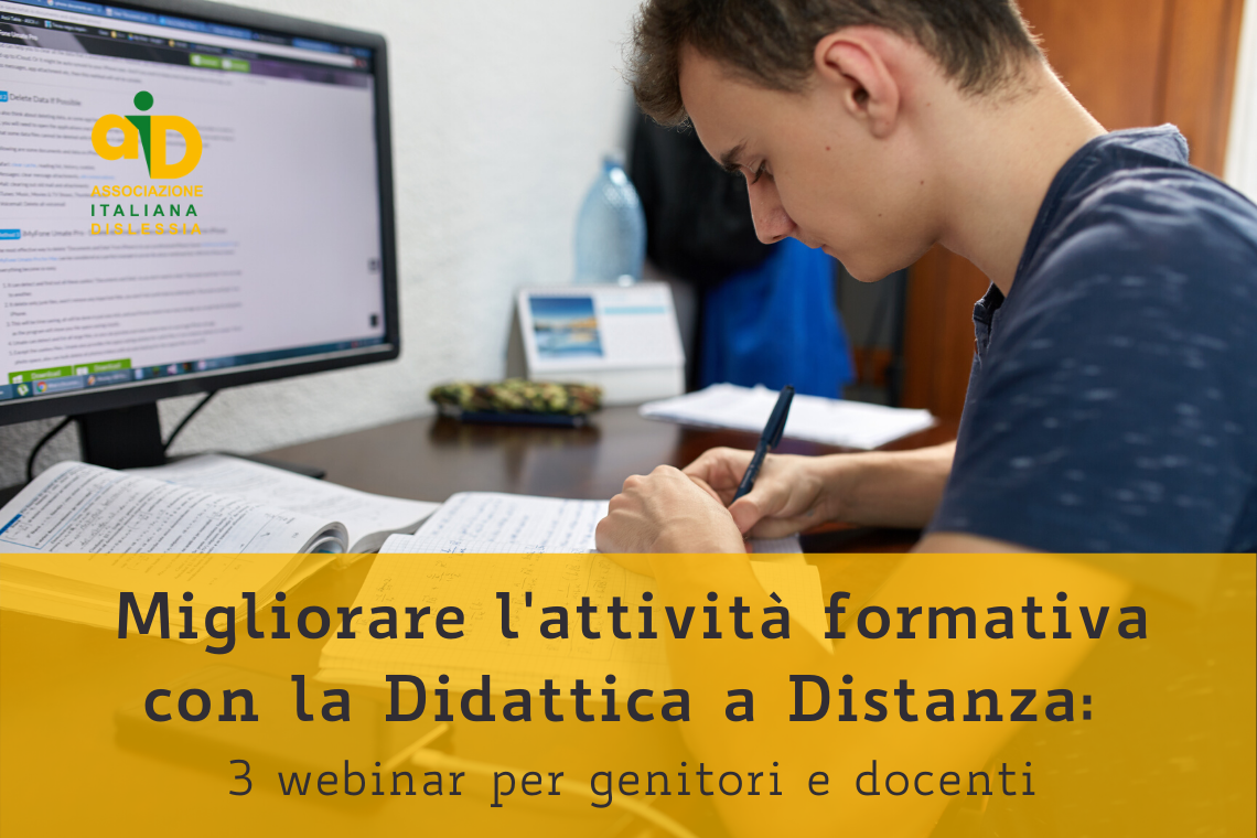 Migliorare l'attività formativa con la didattica a distanza: 3 webinar per docenti e genitori