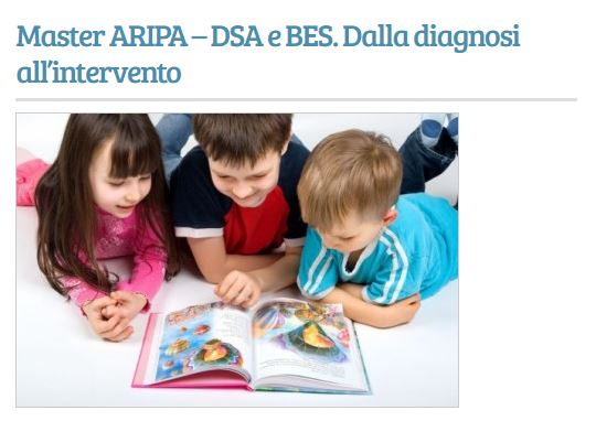 "Master AIRIPA ""DSA e BES dalla diagnosi all'intervento"""