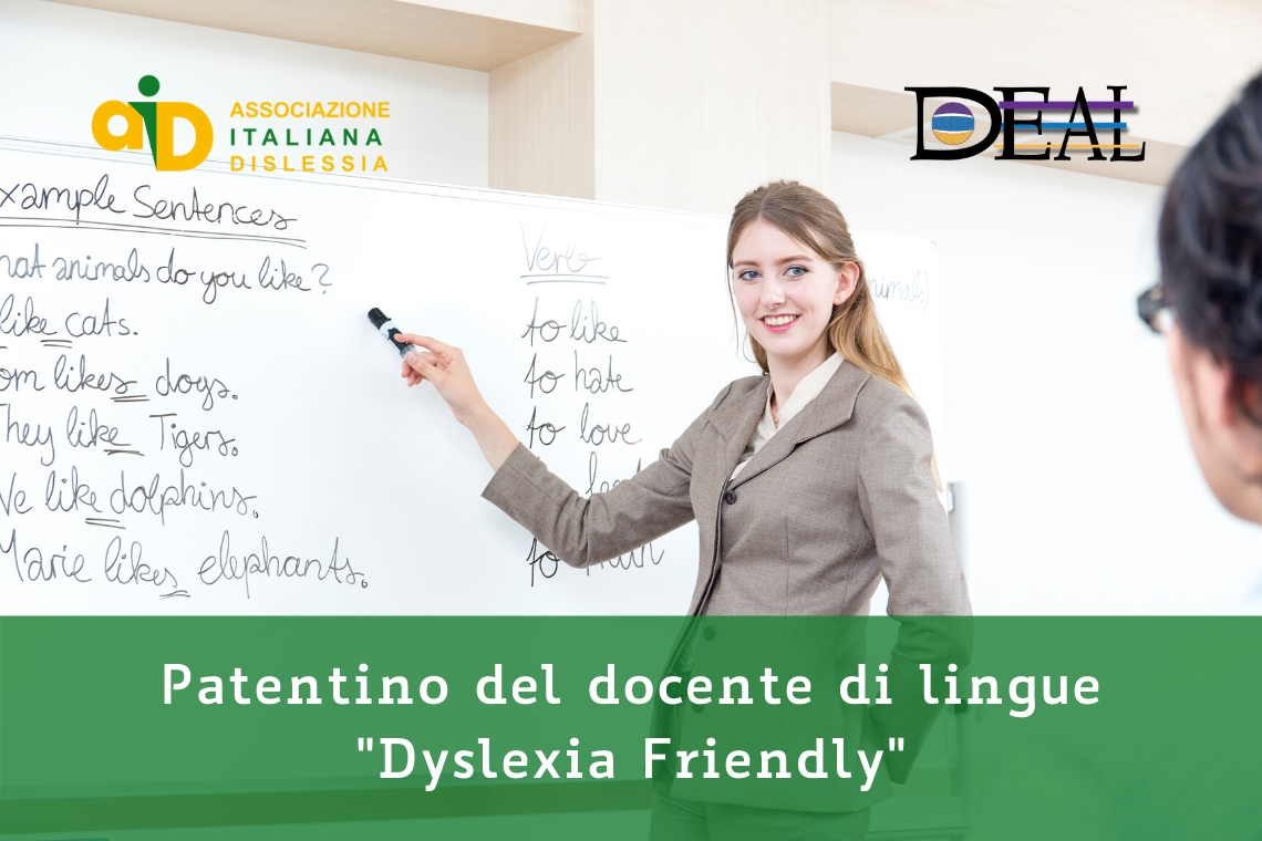 Patentino del docente di lingue dyslexia friendly
