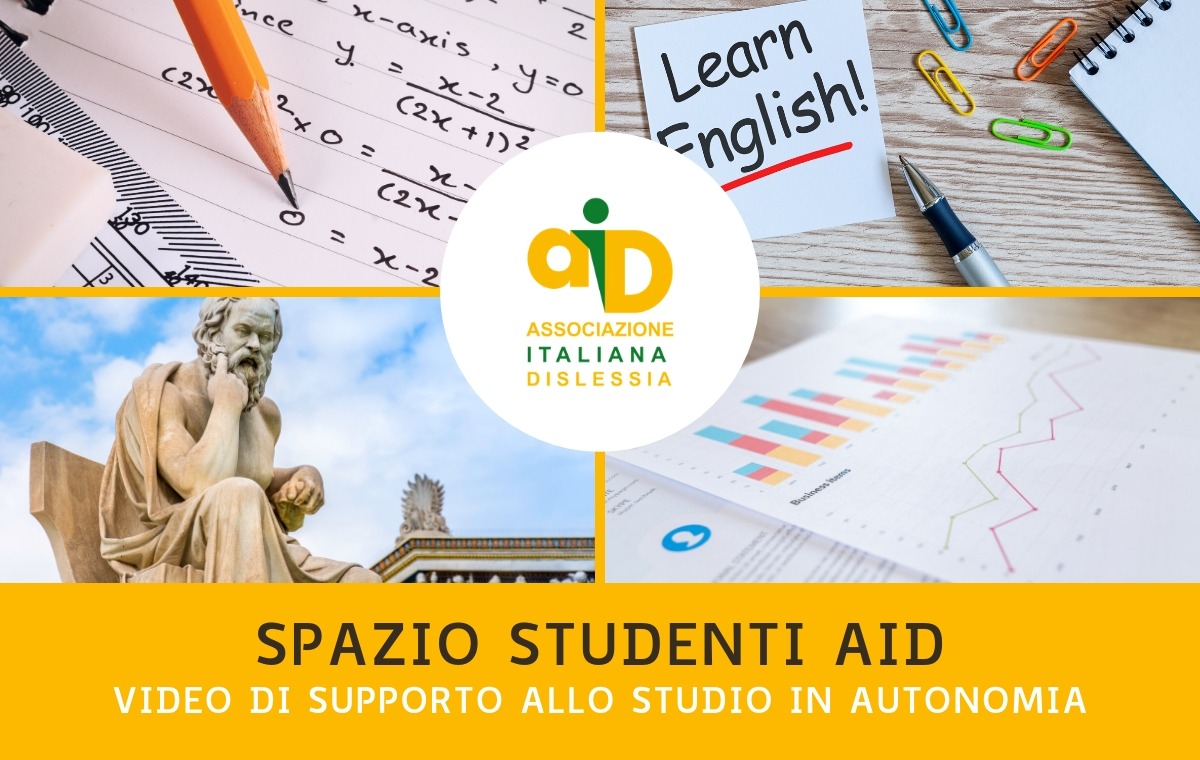 Spazio Studenti AID: video di supporto allo studio in autonomia