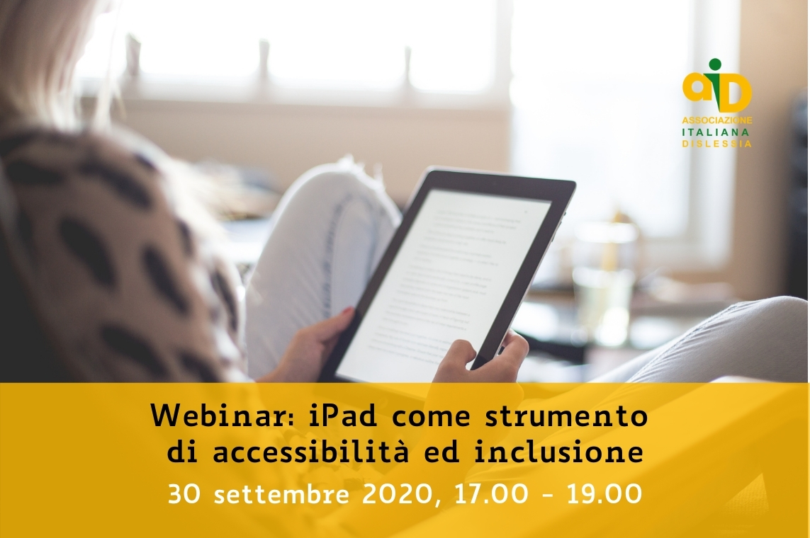 Webinar: iPad come strumento di accessibilità ed inclusione