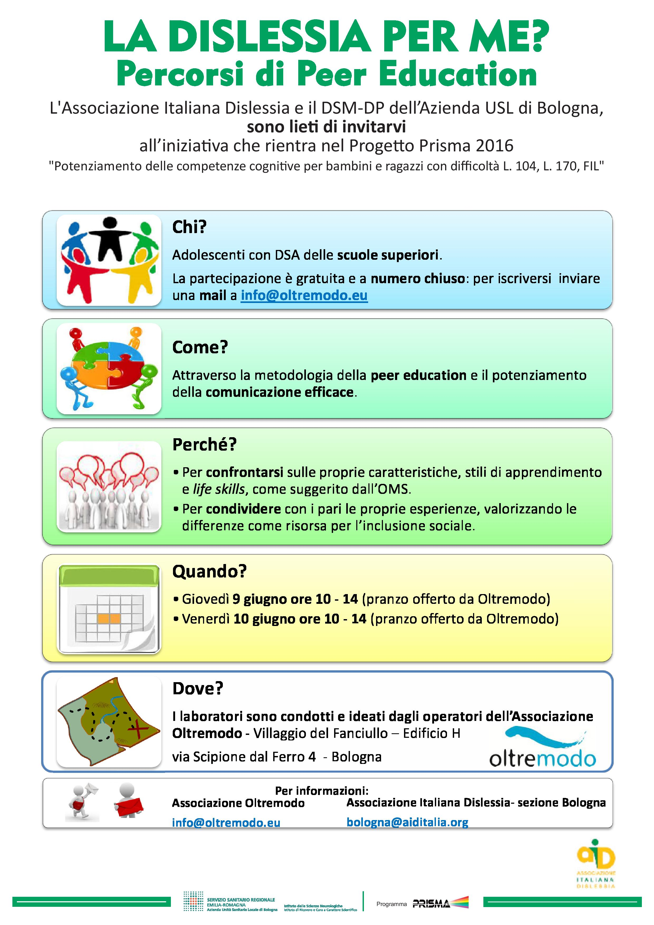 LA DISLESSIA PER ME? Percorsi di Peer Education